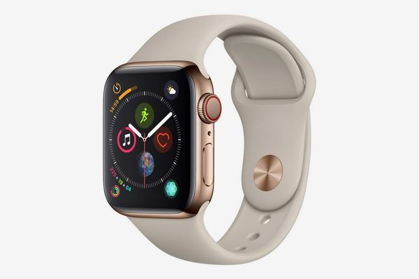 Apple Watch Series 4 (GPS + Cellular, 40mm) - Gold Stainless Steel Case with Stone Sport Band