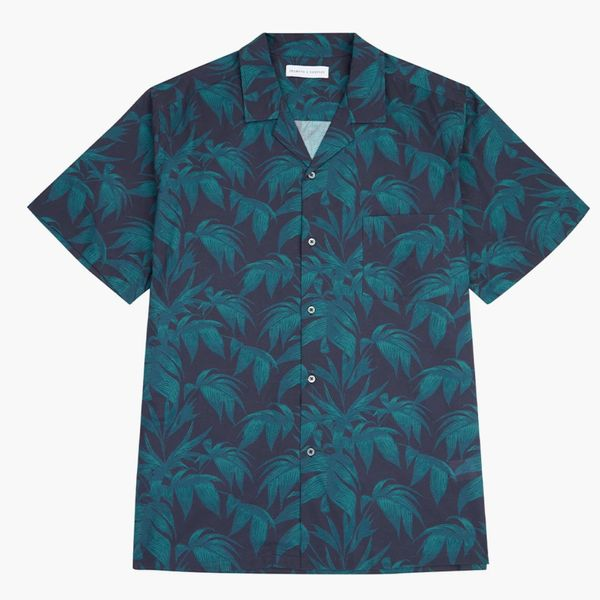 Byron Tropical Print Cuban Collar PJ Shirt