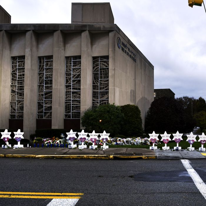 Memorial to the victims of the 2018 mass shooting at a Pittsburgh synagogue.