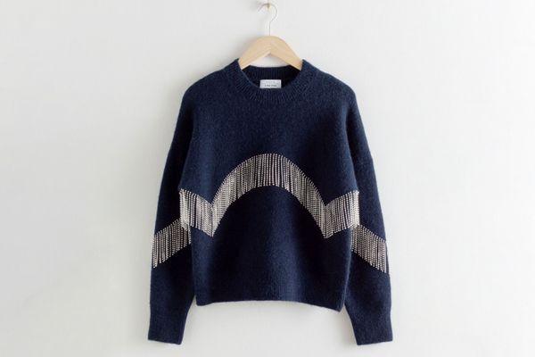 Diamanté Fringe Sweater