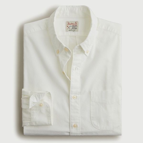 J. Crew Slim Broken-in Garment-Dyed Oxford Shirt