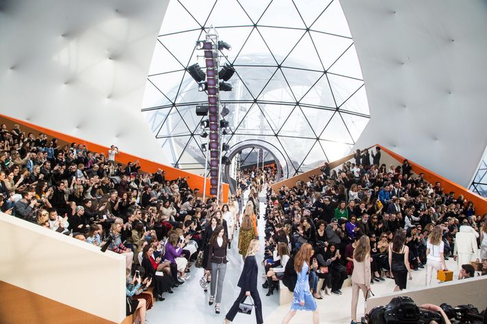 Louis Vuitton's fall 2015 show.