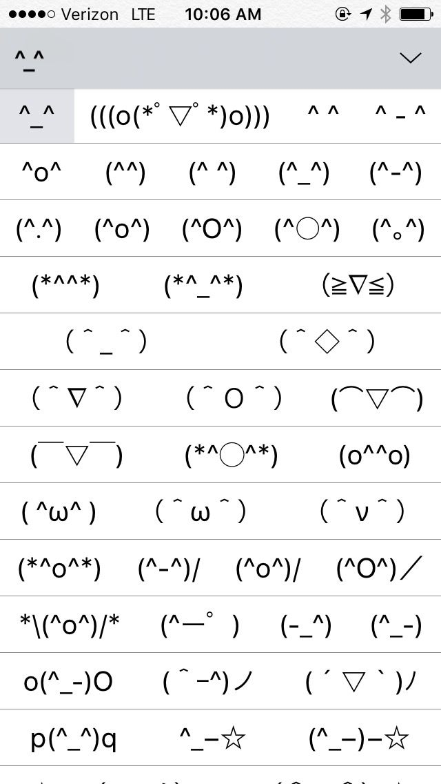 Theres A Secret Kaomoji Keyboard On Your Iphone