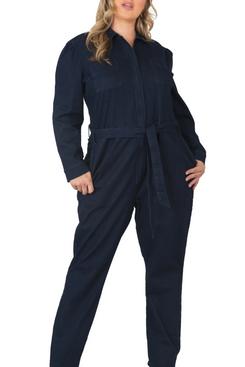 Standards and Practices Janeen Belted Denim Boilersuit