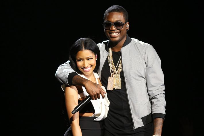 Nicki Minaj and Meek Mill.