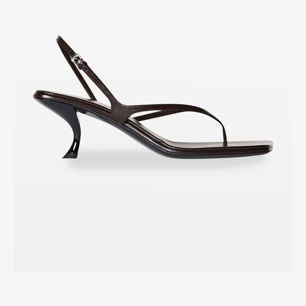 The Row Constance Leather Thong Slingback Sandals