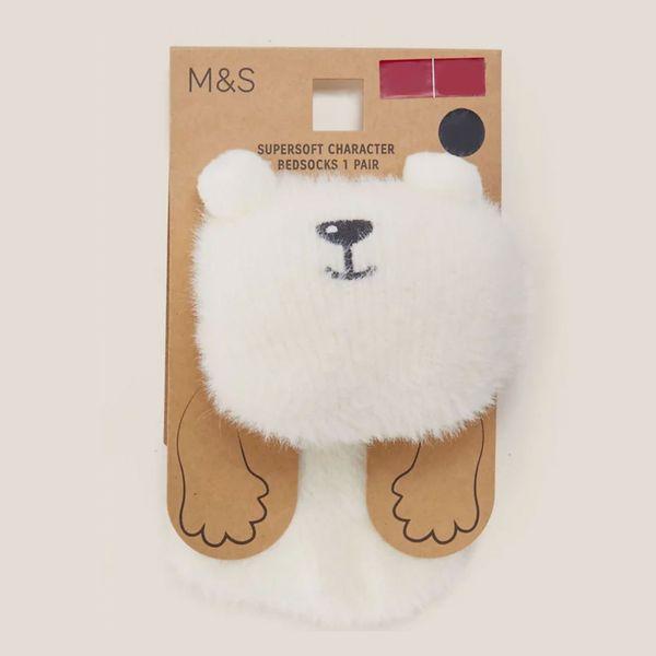Cosy Fur Polar Bear Ankle High Socks