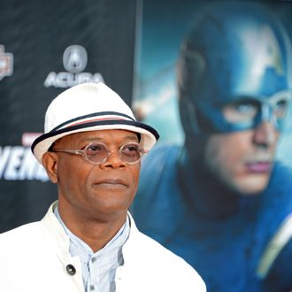Actor Samuel L Jackson arrives for the the world premiere of