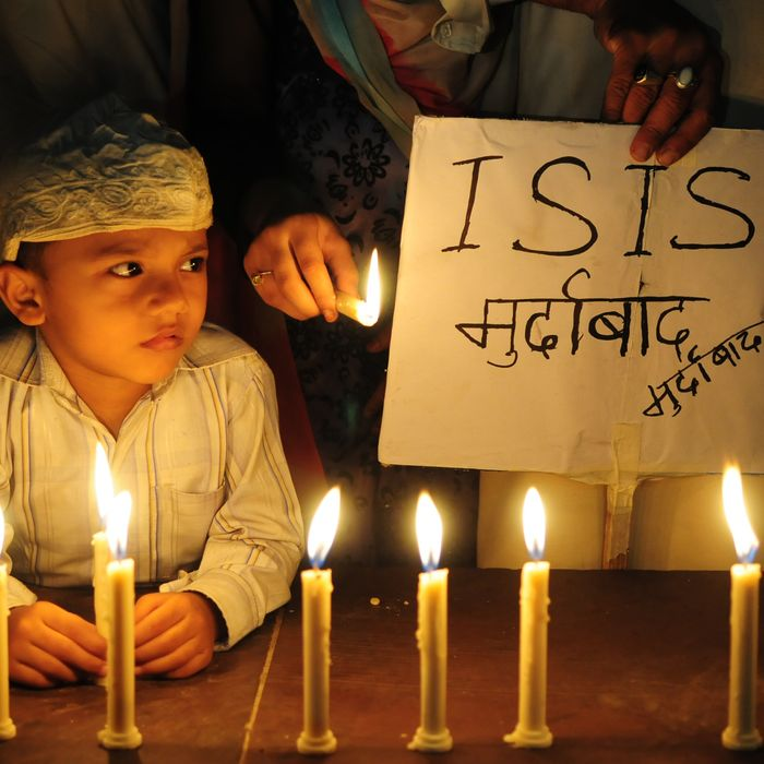 Indians Observe Candle Marches To Expresses Solidarity With Paris Victims