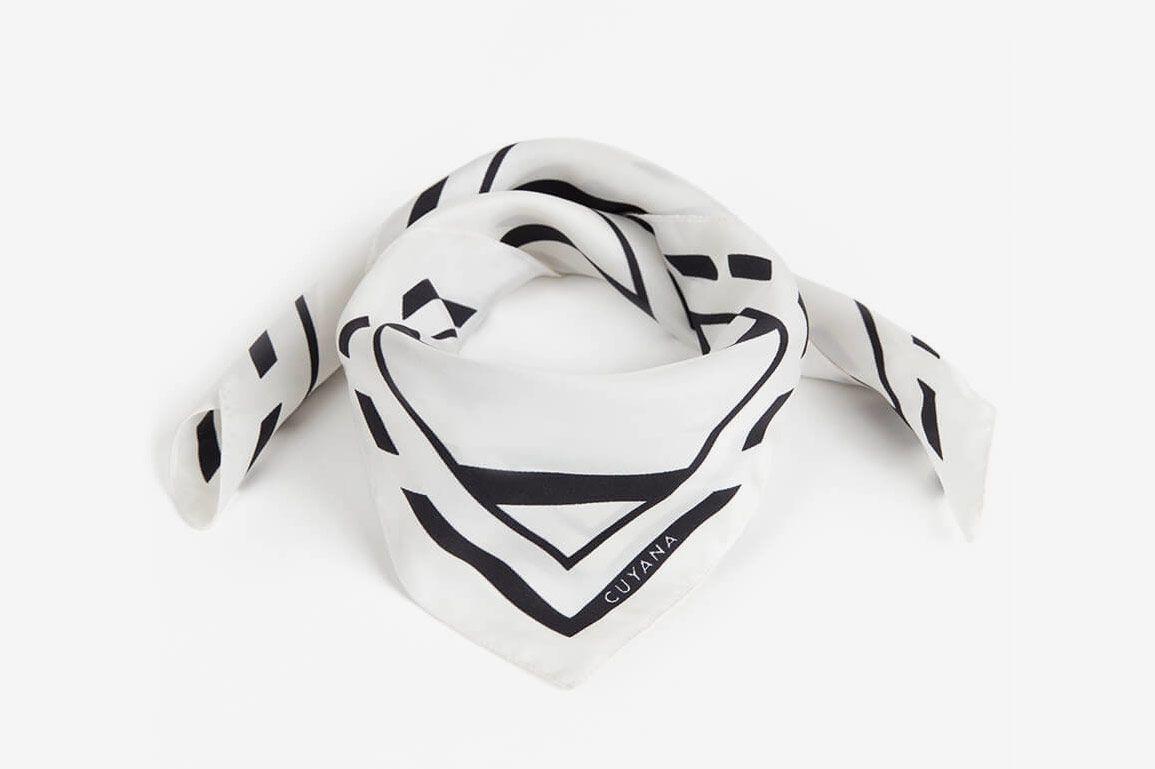 Cuyana Silk Striped Scarf
