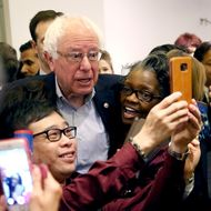 Democratic Presidential Candidate Bernie Sanders Campaigns In Nevada Ahead Of State's Caucus