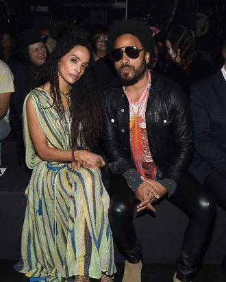 Lisa Bonet and Lenny Kravitz.