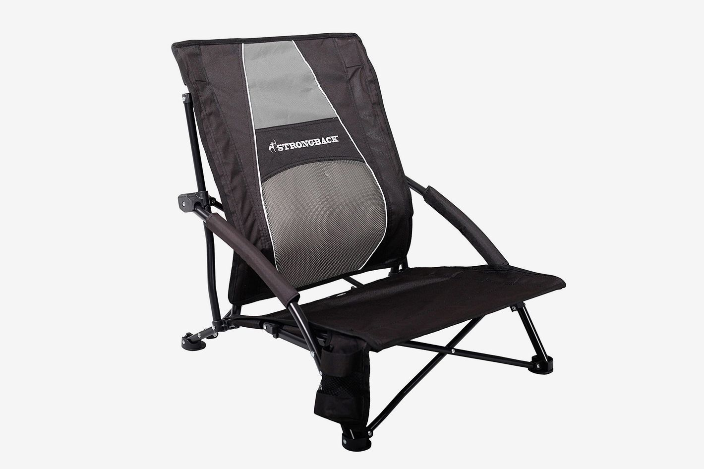 Strongback Low Gravity Beach Chair With Lumbar Support At
