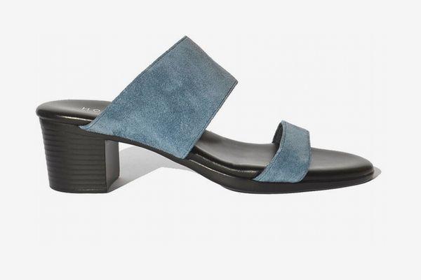 Hopp Two Strap Sandal - Denim Suede