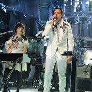 "SATURDAY NIGHT LIVE -- ""Tina Fey"" Episode 1642 -- Pictured: Arcade Fire -- (Photo by: Dana Edelson/NBC)"