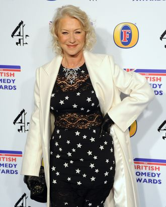 LONDON, UNITED KINGDOM - DECEMBER 16: Dame Helen Mirren attends the British Comedy Awards at Fountain Studios on December 16, 2011 in London, England. (Photo by Stuart Wilson/Getty Images)