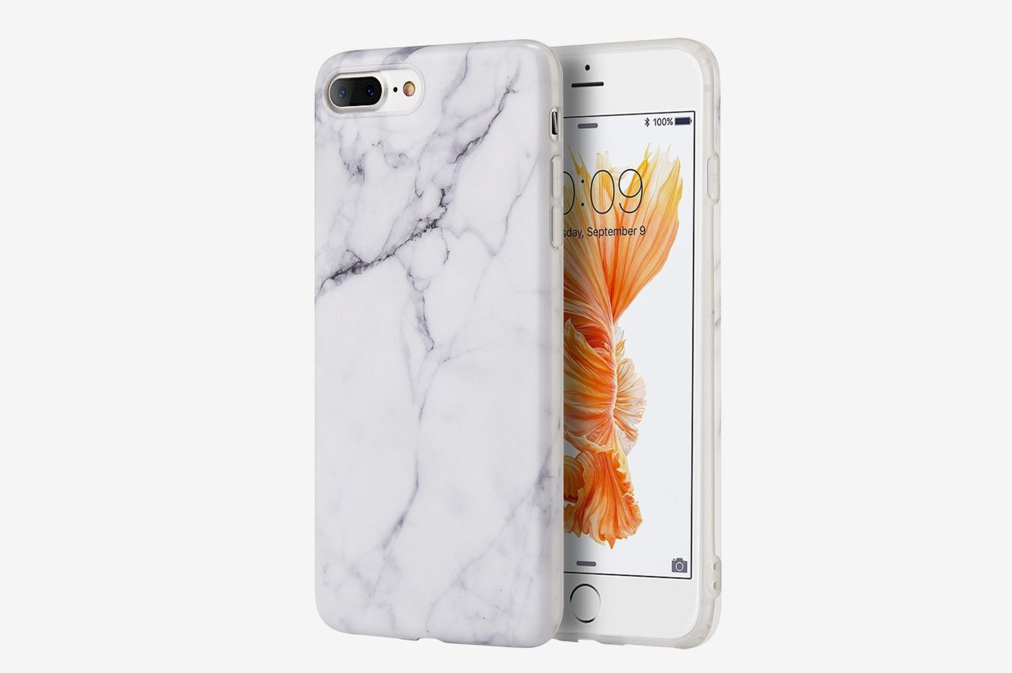 Insten Marble Rubber iPhone 8 Plus Case