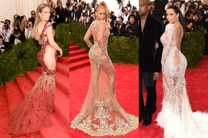Jennifer Lopez, Beyonce, and Kim Kardashian at the 2015 Met Gala.
