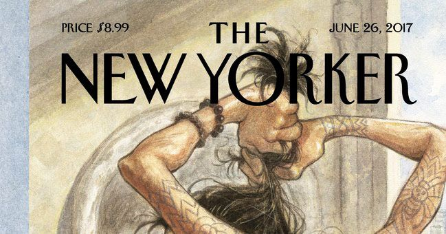man buns have made it to the cover of the new yorker