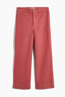 Madewell Slim Emmett Wide-Leg Crop Pants (New Copper)