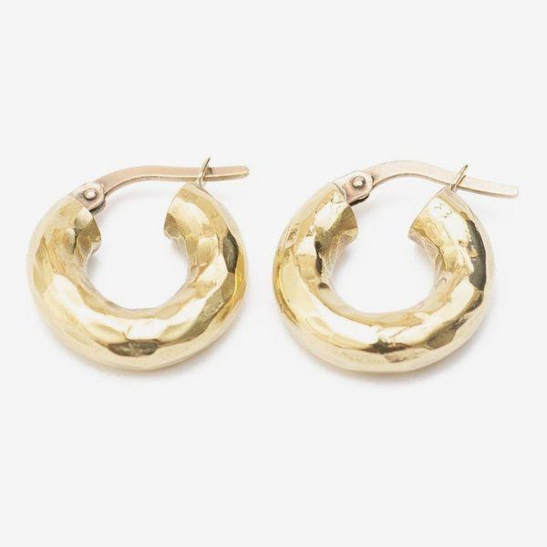 Merille Hammered Brass Hoops