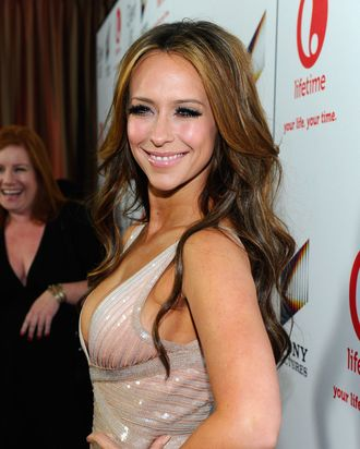 Actress Jennifer Love Hewitt attends the red carpet launch party for Lifetime and Sony Pictures'