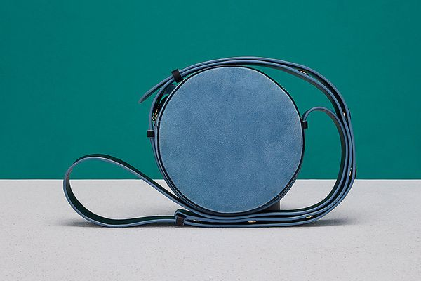 DVF Suede Circle Handbag