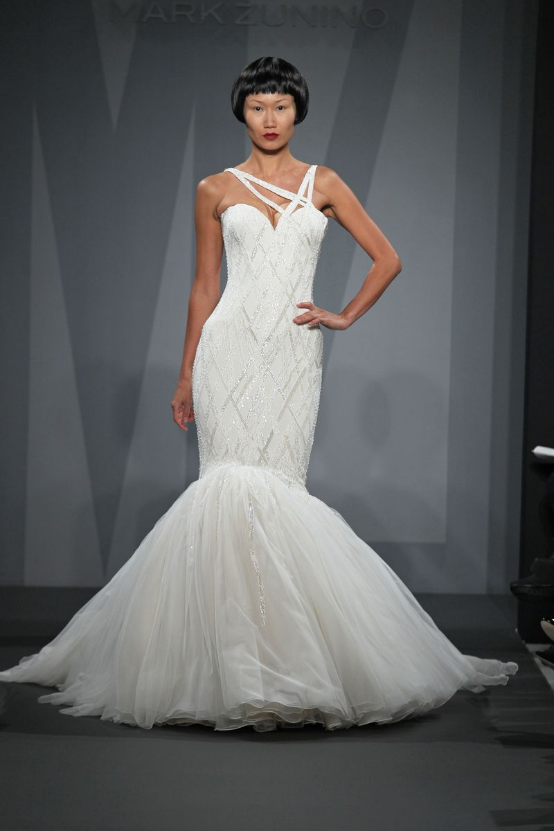 Mark zunino for kleinfeld fall 2014 bridal the cut for Kleinfeld wedding dresses sale