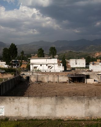 ABBOTTABAD, PAKISTAN - MAY 4: The compound where Osama Bin Laden was killed in an operation by US Navy Seals, is seen on May 4, 2011, in Abottabad, Pakistan. Bin Laden was killed during a U.S. military mission on May 2, at the compound. The Obama administration have decided not to release photographs of Bin Laden's body. (Photo by Warrick Page/Getty Images)