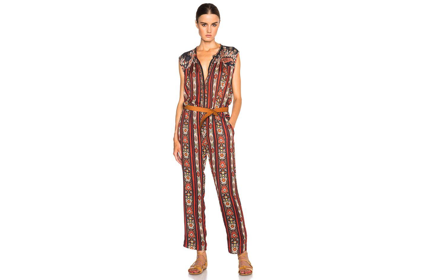 Isabel Marant Etoile Tad Paisley Print Jumpsuit