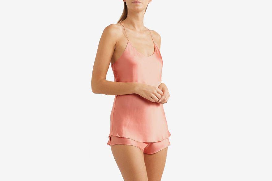 38c8c20f911a0 Olivia von Halle Bella silk-satin pajama set