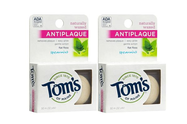 Tom's of Maine Natural Antiplaque Flat Floss