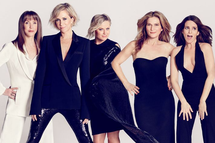 Laraine Newman, Kristen Wiig, Amy Poehler, Ana Gasteyer, and Tina Fey: all former employees of <em>SNL</em>.