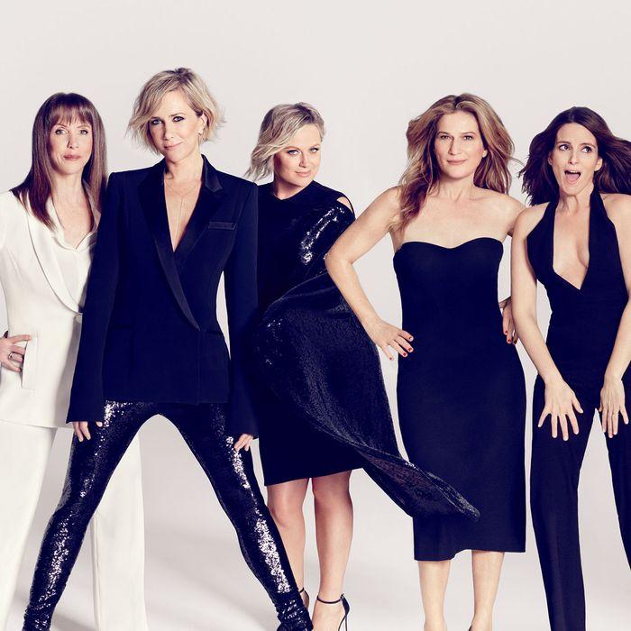 Laraine Newman, Kristen Wiig, Amy Poehler, Ana Gasteyer, and Tina Fey: all former employees of <em>SNL</em>.