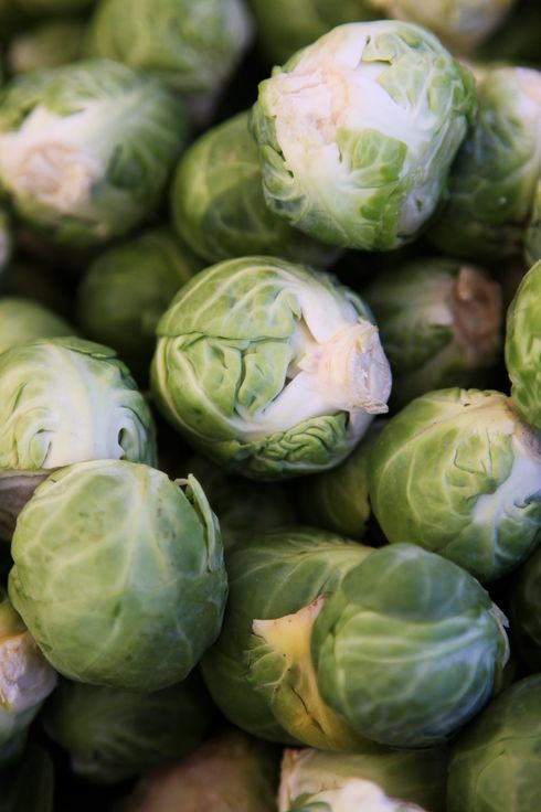 Brussel sprouts at a famers' market