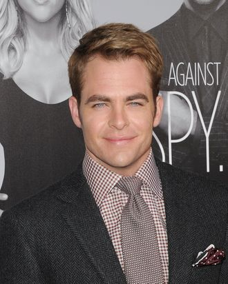 Actor Chris Pine attends the 'This Means War' Los Angeles premiere