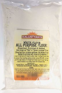 Kalustyan's All Purpose Flour Bleached & Enriched, One Pound