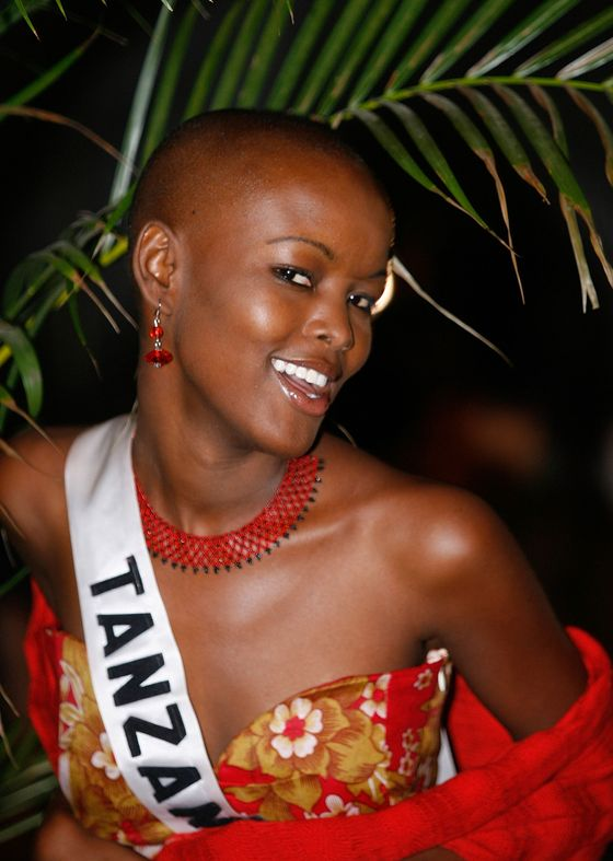 "In 2007, <a href=""http://flavianamatata.com/biography/"">Flaviana Matata</a> was the first woman to compete in the Trump-owned Miss Universe pageant with a shaved head. Matata came in sixth and is now a model in New York.<a href=""https://autodiscover.nymag.biz/owa/redir.aspx?C=a3e69f6040584d538ad5d6dc4befe6d8&URL=http%3a%2f%2fwww.forbes.com%2fsites%2fkerryadolan%2f2012%2f11%2f02%2fmark-cuban-dares-donald-trump-to-shave-his-head-for-1-million%2f""> </a>"