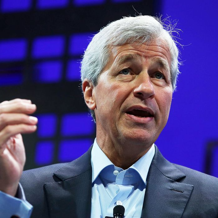 JPMorgan Chase and Co. chairman and CEO Jamie Dimon speaks during the Fortune Global Forum on November 4, 2015 in San Francisco, California. Business leaders are attending the Fortune Global Forum that runs through November 4.