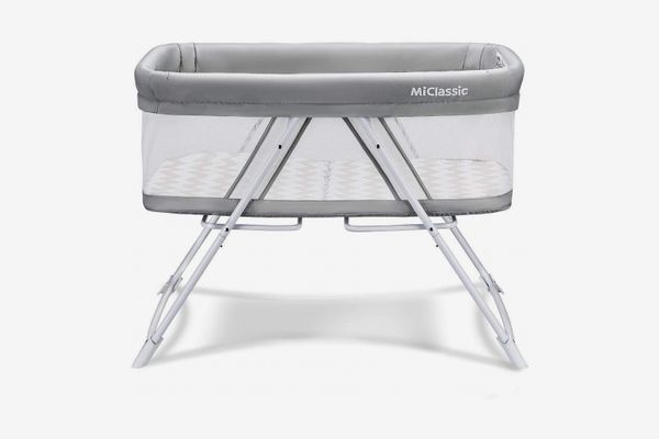 2 in 1 Stationary and Rock Bassinet One-Second Fold Travel Crib