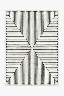 Jonathan Adler Inkdrop Black & Ivory Rug