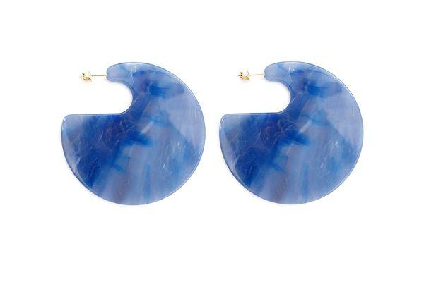 Rachel Comey Blue Marble Earrings