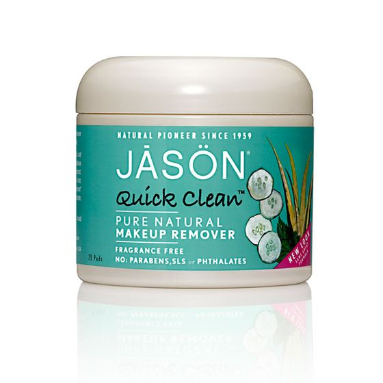 "Need to quickly swipe off your eye makeup and don't want to waste a full wipe? These little pads from natural brand Jason are perfect.  <i>Jason Quick Clean Pure Natural Makeup Remover Pads, <a href=""http://www.drugstore.com/jason-natural-cosmetics-quick-clean-makeup-remover-pads-oil-free/qxp45927"">$8.95</a></i>"