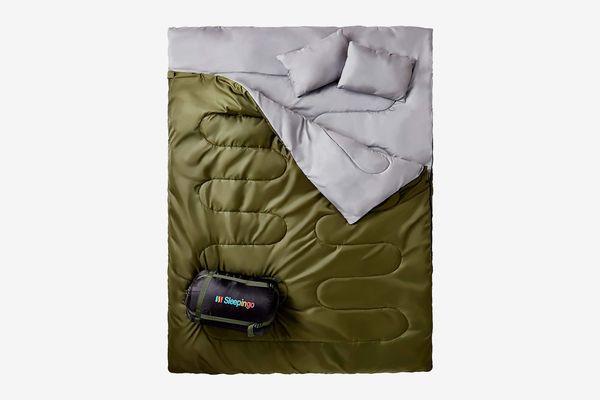 Sleepingo Double Sleeping Bag For Backpacking, Camping, Or Hiking