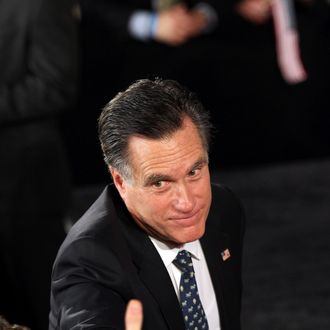 COLUMBIA, SC - JANUARY 21: Republican presidential candidate, former Massachusetts Gov. Mitt Romney greets supporters at his primary night rally January 21, 2012 in Columbia, South Carolina. Romney conceded defeat in the South Carolina primary to former Speaker of the House Newt Gingrich. (Photo by John Moore/Getty Images)