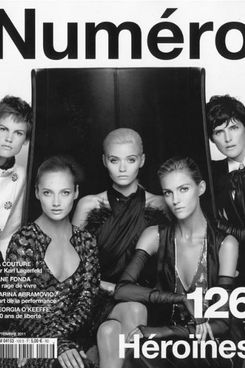 Karl Lagerfeld's <em>Numero</em> cover.