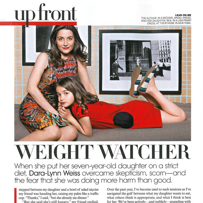 Dara-Lynn Weiss with her post-diet daughter, Bea.