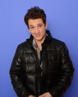 PARK CITY, UT - JANUARY 17: Actor Miles Teller poses for a portrait during the 2014 Sundance Film Festival at the Getty Images Portrait Studio at the Village At The Lift on January 17, 2014 in Park City, Utah. (Photo by Larry Busacca/Getty Images)