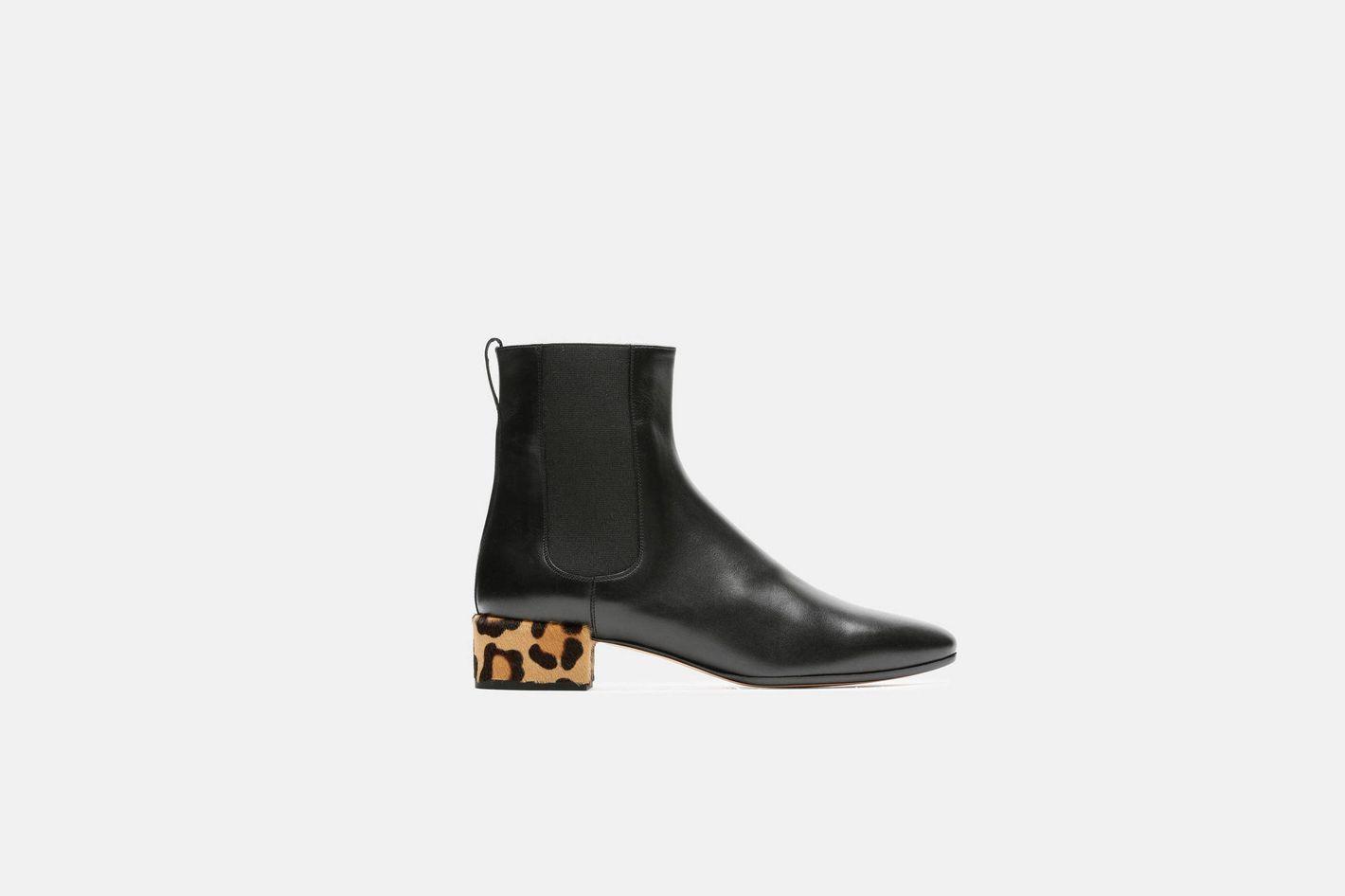 Francesco Russo Leopard Heel Low Boot