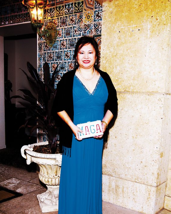aea7345e310f Yang at the Truth About Israel Gala at Mar-a-Lago in February 2018. Photo:  Paulette Martin and Amy Marie Meister